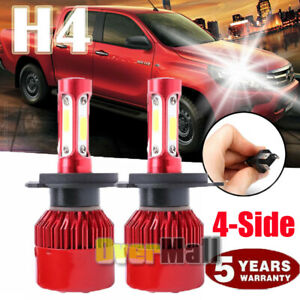 Cree H4 Hb2 9003 5000w 688000lm 4 sided Led Headlight Kit Hi lo Power Bulb 6000k