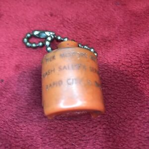 Vintage Nash Auto Coin Holder Key Chain Pier Motors In Rapid City Sd