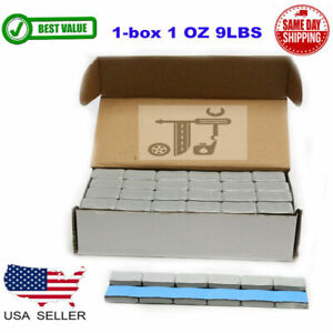 1 Box 1 Oz Gray Wheel Weights Stick On Adhesive Tape 9 Lbs Lead Free 144 Pieces