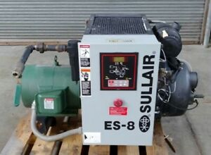 Sullair Es 8 20hp Screw Air Compressor 76 Cfm 125 Psi Fully Serviced