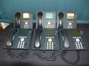 Lot Of 6 Avaya 9650 Office Ip Phones Tested W Handsets Stands