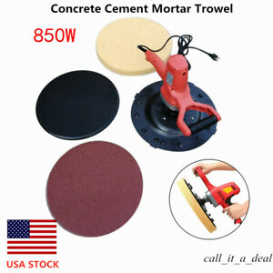 Concrete Cement Mortar Hand Electric Trowel Wall Smoothing Polishing Machine New