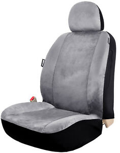 Velour Low Back One Car Seat Cover Universal For Truck Suv Front Seats Grey