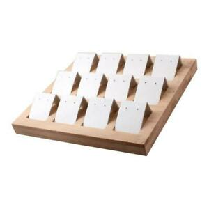 12pcs Earring Card Holder With Tray For Jewelry Accessory Display White