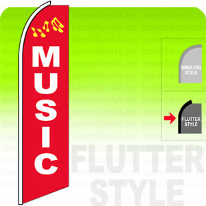 Music Swooper Flag Feather Banner Sign 2 5x11 5 Tall Flutter Style Rb