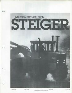 Equipment Brochure Steiger Industrial Tractors Old Photocopy e5846