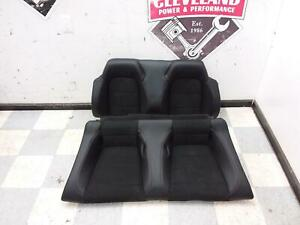 2015 2017 Ford Mustang Gt Convertible Oem Leather Suede Rear Back Seat Black
