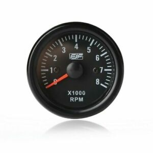 2 Inch 52mm Electrical Tachometer Gauge For 0 8 x1000 Rpm Led Display