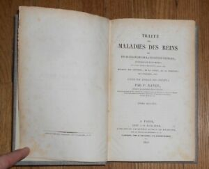 1840 Antique Medical Book Maladies Des Reins Urinaire V 2