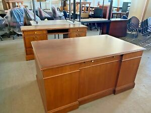 Executive Desk By Jofco Office Furniture In Cherry Wood