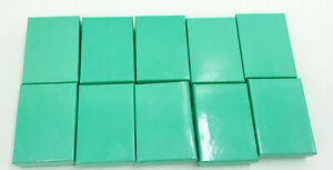 Lot Of 10x Empty Green Card Board Jewelry Gift Boxes 3 1 4 X 2 1 4 X 1