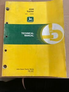 John Deere Tech Manual For 2240 Tractor