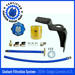 Sinister Diesel Coolant Filtration System w Cat For 2019 Dodge Cummins 6 7l