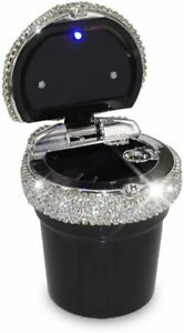 Car Ashtray Portable Bling Cigarette Smokeless Cylinder Cup Holder