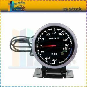 2 5 Inch 60mm 0 30psi Car Auto Turbo Boost Pointer Gauge Meter 12v Led Display