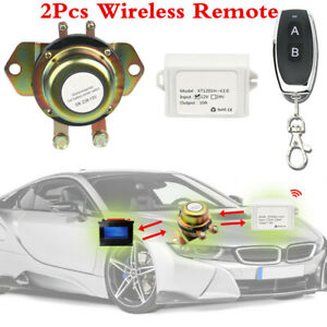 12v Car Suv Remote Control Battery Switch Wireless Disconnect Power Master Kill