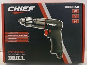 Chief Ch38rad Professional 3 8 Reversible Pneumatic Air Drill 2 000rpm 4hp New