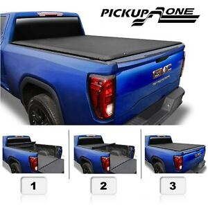 Roll Up Tonneau Cover For 2014 2019 Chevrolet Silverado Gmc Sierra 6 5ft Bed