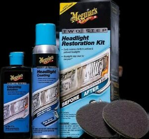 Meguiars 2 Step Headlight Restoration Kit Free Priority Shipping Hi pr gu ak usa