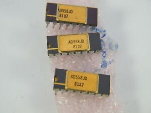Analog Devices Ad558jd Analog To Digital Converter Lot Of 3