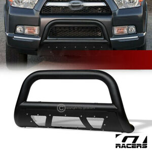 For 2010 2020 Toyota 4runner Textured Black Studded Mesh Bull Bar Bumper Guard