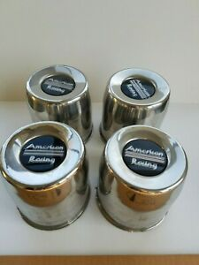 Vintage American Racing Wheel Center Caps Lot Of 4 Used