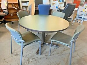 48 Round Conference Table 4 Chairs Set