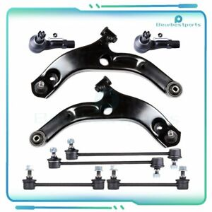 8pcs Suspension Control Arm Outer Tie Rod Sway Bar Fits 2002 2003 Mazda Protege