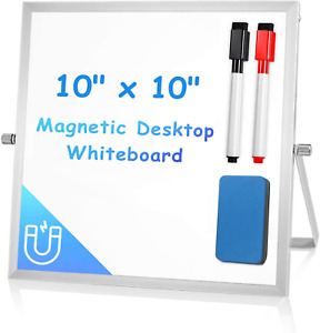 Small Dry Erase White Board For Desk 10 X 10 Arcobis Magnetic Double sided Ea