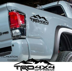 Fits Toyota Tacoma Vinyl Decals Rear Bed Stikers Racing Development Off Road 4x4