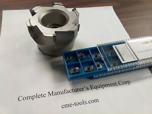 3 90 Degree Indexable Face Mill Milling Cutter Sandvik R390 20 Extra Inserts