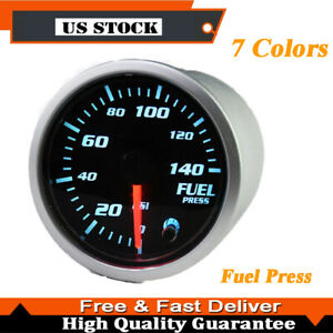1x 52mm 7 Color Led 0 140 Psi Diesel Fuel Pressure Gauge T Sender Unit