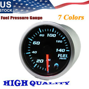 1 52mm 7 Color Fuel Pressure Gauge 0 140psi Fuel Pressure Gauge