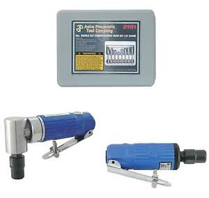 Astro Pneumatic 1221 Die Grinder Combo Kit With Burrs New
