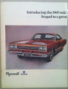 1969 Plymouth Roadrunner Gtx Cuda 340 383 440 426 Hemi Decal Sticker Mopar Ad