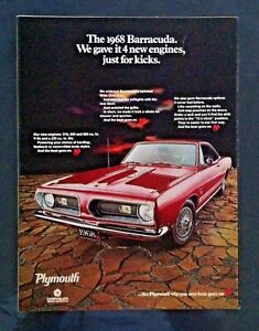 1968 Plymouth Gtx Fury Cuda 6 Page Mopar Original Print Car Ad 1969 1967 Hot Rod