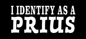 I Identify As A Prius Bumper Sticker Decal Cummins Powerstroke Duramax Truck Gas