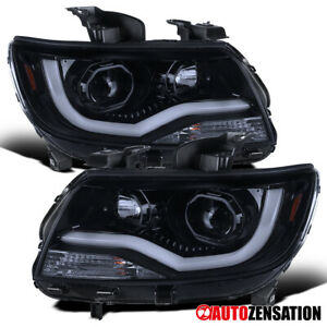 For 2020 2020 Chevy Colorado Glossy Black Smoke Led Drl Projector Headlights