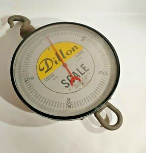 5 000 Lbs Vintage Hanging Dillon Crane Scale Great Home Accent Great Condition