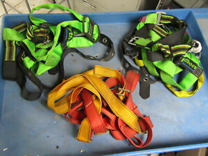 Lot Of 3 Safety Climbing Harness 1 Protecta And 2 Honeywell Miller Python