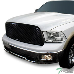 Topline For 2009 2012 Ram 1500 Dual Lamp Chome Headlights Signal mesh Grille Blk