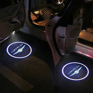 2pcs No Drill Led Puddle Projector Door Lamp For 2005 2016 Chrysler 300c