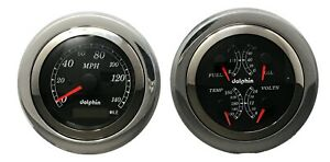 1951 1952 Chevy Car Dash Panel Gauge Set Gps 3 3 8 Black