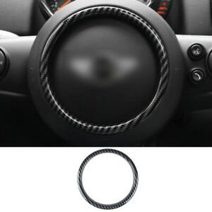 For Mini Cooper F56 2014 2020 Carbon Fiber Inner Steering Wheel Center Trim