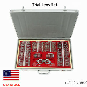266pcs Trial Lens Set Metal Rim Optical With Trial Frame Aluminum Optometry Case