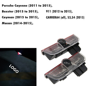 2x Led Car Door Courtesy Laser Ghost Shadow Lights Fit For Cayenne Macan 911