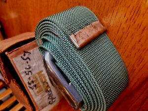 Nos 1955 1956 1957 Fomoco Seat Belt Green B6a 18620 Ad New In Box Shows Age