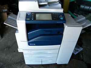 Xerox Copier Scanner Printer Work Centre 7855 With Finisher Works Properly