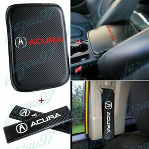 Car Center Console Armrest Cushion Mat Pad Cover Combo Set For Acura Integra Tl