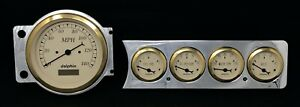 1941 1942 1943 1944 1945 1946 1947 1948 Chevy Car 5 Gauge Dash Panel 5 Gold
